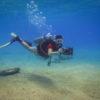 Com a câmera, no Arrecife Paraíso - Cozumel, México