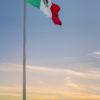 Pôr-do-sol no centro de Cozumel - México.
