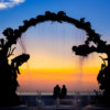 Pôr-do-sol no Monumento ao Mergulhador. Cozumel, México