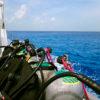 Cilindros no barco!  - Cozumel, México