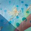 Detalhe do grafite de Amanda Lyyn - Cozumel, México