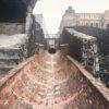 Ruínas do sistema de drenagem no Templo Mayor - CIdade do México