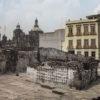 Muro de caveiras nas ruínas do Templo Mayor - Cidade do México