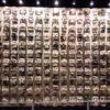Réplica do muro de caveiras no Museu do Templo Mayor - Cidade do México