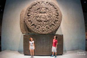Piedra del Sol no Museu de Antropologia - Cidade do México