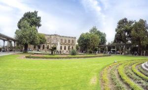 Jardim no topo do Castelo de Chapultepec, na Cidade do México.