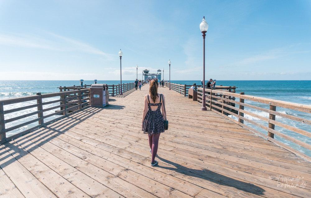 O famoso Pier de Oceanside.