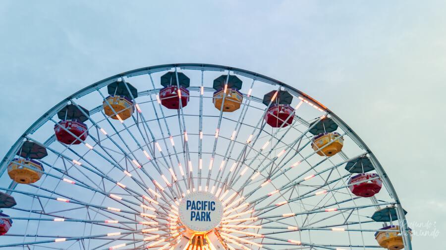 Parque de diversões do Píer de Santa Mônica